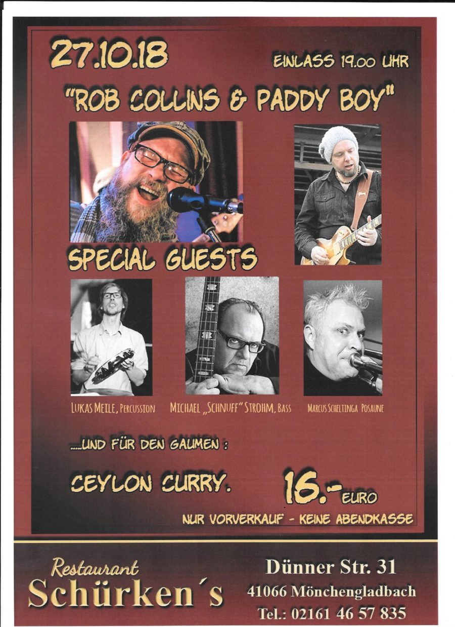 27.10.2018: Rob Collins & Paddy Boy