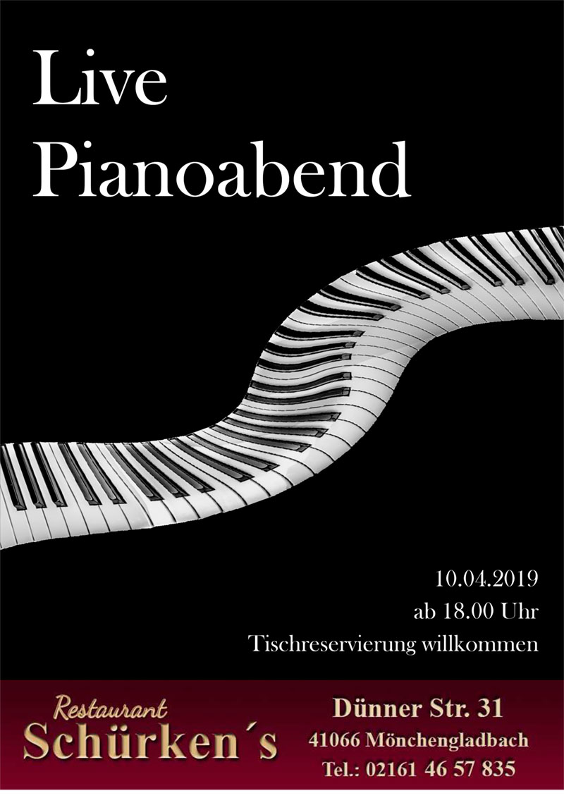 10.04.2019: Live Pianoabend